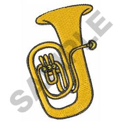 TUBA INSTRUMENT embroidery design
