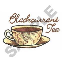 BLACKCURRANT TEA embroidery design