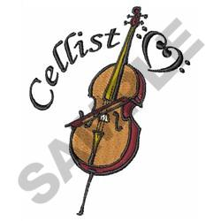 CELLIST embroidery design