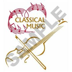 CLASSICAL MUSIC embroidery design