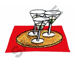 COCKTAILS embroidery design
