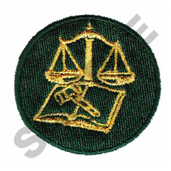 LEGAL LOGO embroidery design