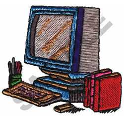 COMPUTER WORK STATION embroidery design
