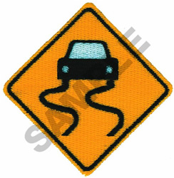 SLIPPERY WHEN WET embroidery design