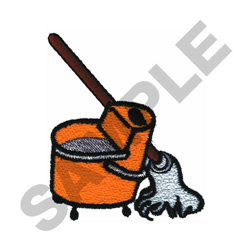 MOP AND BUCKET embroidery design