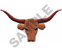 SMALL LONGHORN embroidery design
