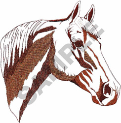 QUARTER HORSE HEAD Embroidery Designs Machine Embroidery