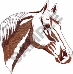QUARTER HORSE HEAD embroidery design