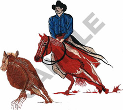 CUTTING HORSE embroidery design
