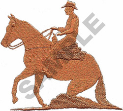 REINING HORSE embroidery design