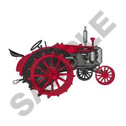 Vintage Tractor embroidery design