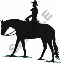 HORSE & RIDER SILHOUETTE embroidery design