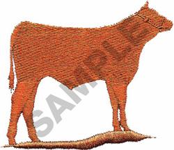 BULL SILHOUETTE embroidery design