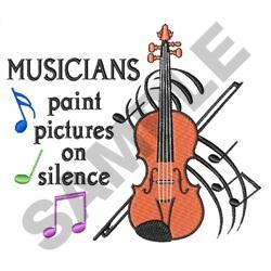 PAINT PICTURES ON SILENCE embroidery design