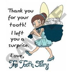 LETTER FROM TOOTH FAIRY embroidery design