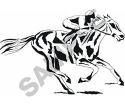 RACEHORSE & JOCKEY embroidery design