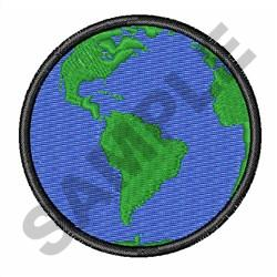EARTH TWO INCHES embroidery design