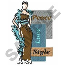 PEACE LOVE STYLE embroidery design