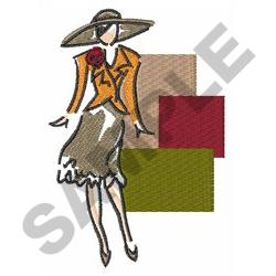 FASHIONABLE WOMAN embroidery design