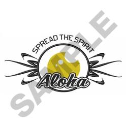 ALOHA SPIRIT APPLIQUE embroidery design