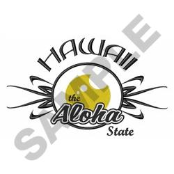 ALOHA HAWAII APPLIQUE embroidery design