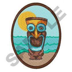 TIKI OVAL embroidery design