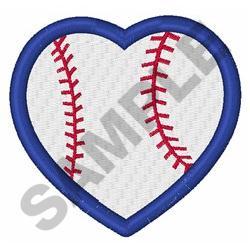 BASEBALL HEART embroidery design