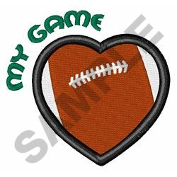 FOOTBALL MY GAME embroidery design
