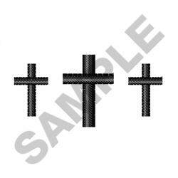 CROSSES FOR COLLAR embroidery design