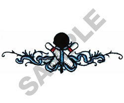 BOWLING BORDER embroidery design