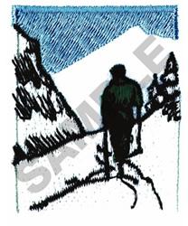 SNOW SKI SCENE embroidery design