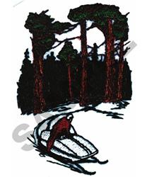 SNOWMOBILE SCENE embroidery design