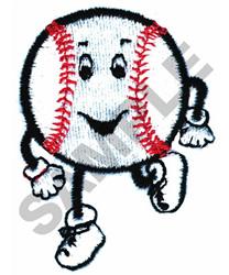 RUNNING BASEBALL embroidery design