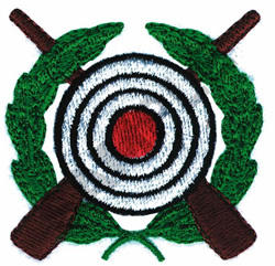 RIFLE TARGET embroidery design