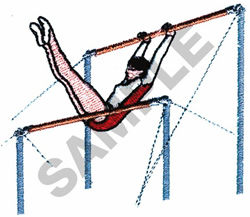 UNEVEN BARS GYMNAST embroidery design