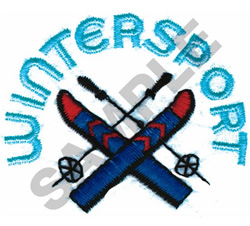 WINTERSPORT embroidery design