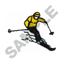 SKIER embroidery design