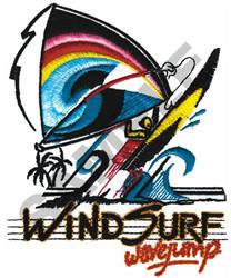 WIND SURF WAVEJUMP embroidery design