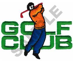 GOLF CLUB embroidery design