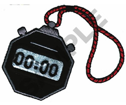 STOP WATCH embroidery design