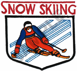 SNOW SKIING embroidery design