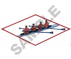 CANOEING LOGO embroidery design