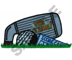 TEE TIME POCKET TOPPER embroidery design