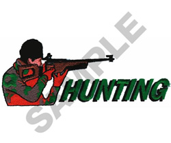 HUNTING embroidery design