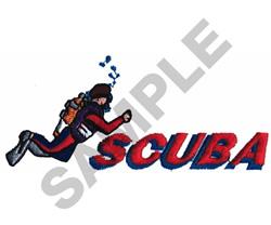 SCUBA embroidery design
