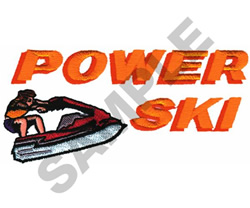 POWER SKI embroidery design