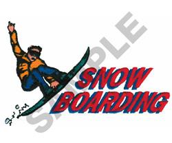 SNOW BOARDING embroidery design