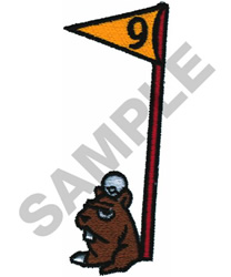 GOPHER AND 9TH HOLE embroidery design