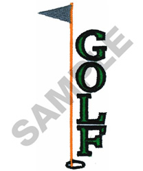 GOLF WITH FLAG embroidery design