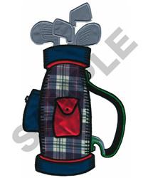 GOLF BAG APPLIQUE embroidery design